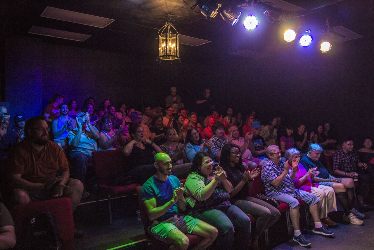 A large crowd at Bexar Stage (Spectrum News)