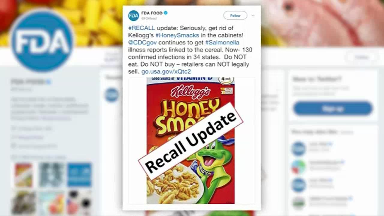 FDA tweets another warning about cereal recall
