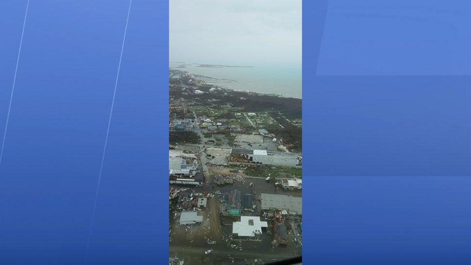 Damage seen across Freeport, Bahamas. (Courtesy of missiondissolve.org)