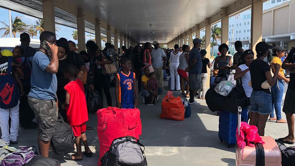 More and more passengers arrive at the Port of Freeport after Hurricane Dorian devastated parts of the Bahamas. (Adam Vance/Spectrum News)