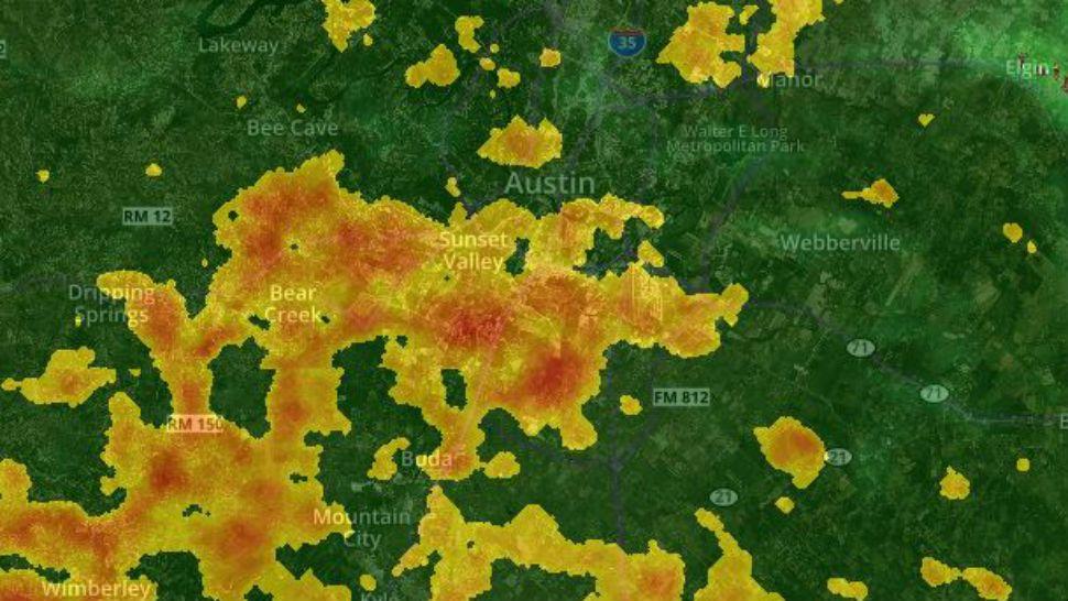 Interactive Radar: Track developing Austin storms
