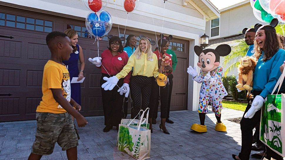 Boy Surprised With Disney Trip After Helping Dorian Evacuees