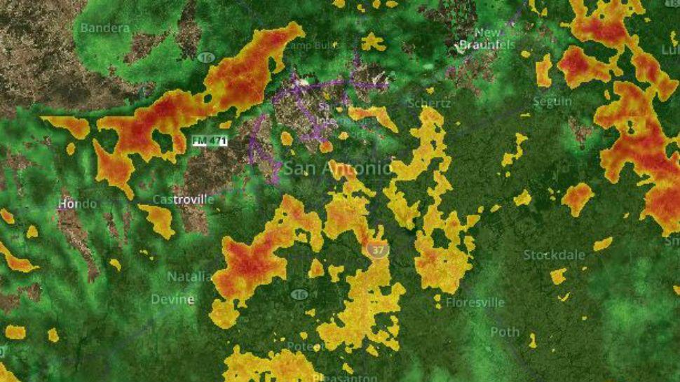 Interactive Radar: Track developing San Antonio storms