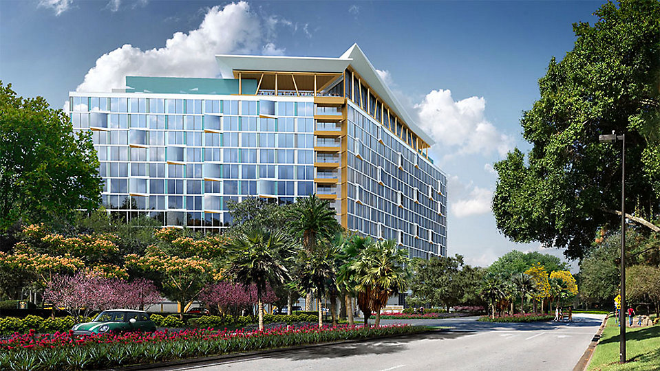 A new 349-room hotel tower will be built at the Walt Disney World Swan and Dolphin Resort. (Tishman)