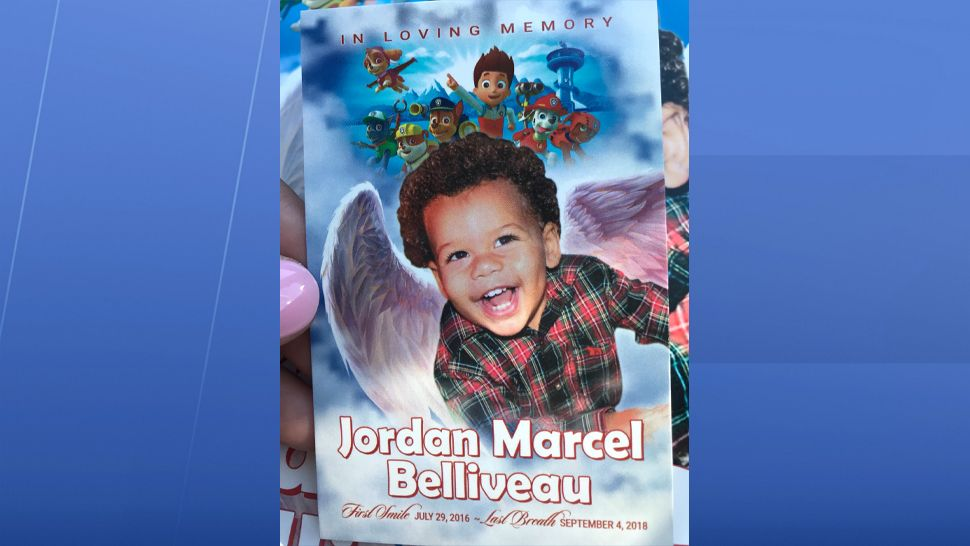 Family, friends, and loved ones said their final goodbyes to Jordan Belliveau on Saturday. The two-year-old's life was celebrated by those closest to him. The funeral had some of his favorite things like balloons and characters from PAW Patrol. (Jorja Roman, staff)
