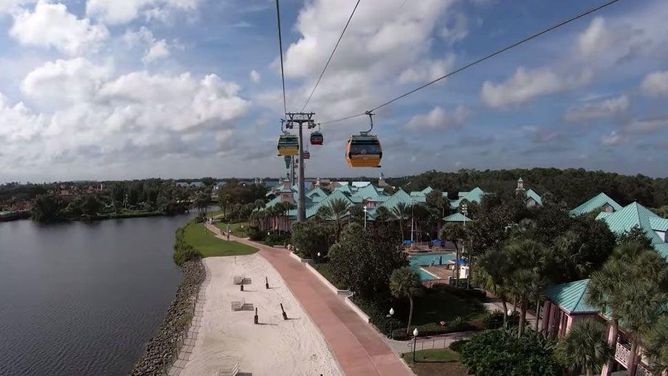 Disney Shares Views from Disney Skyliner Gondolas