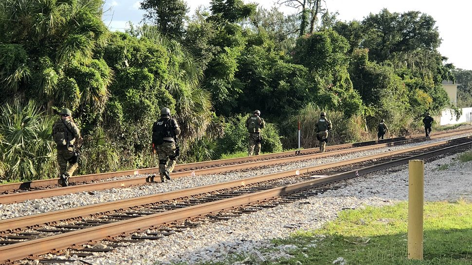 Winter Park Police had parts of Fairbanks and North Orange Avenue shut down as they searched the railroad tracks for a shooting suspect.