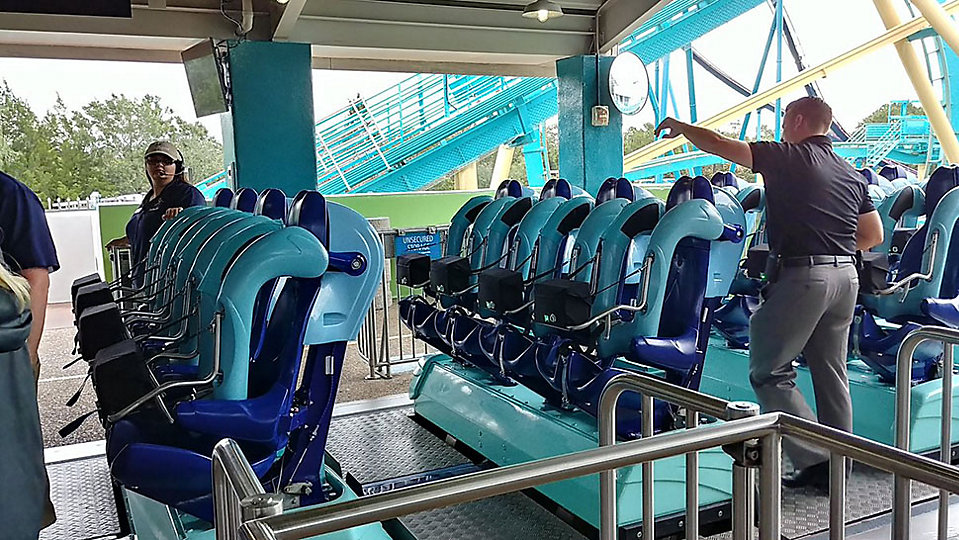 SeaWorld removed the VR element on Kraken Unleashed due to guest feedback. (Ashley Carter, staff)