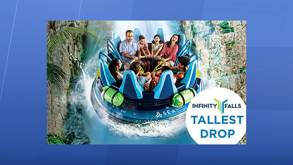 The construction walls are down and the water is running. But there's still no opening date for SeaWorld Orlando's newest attraction, Infinity Falls. (Photo credit: SeaWorld)