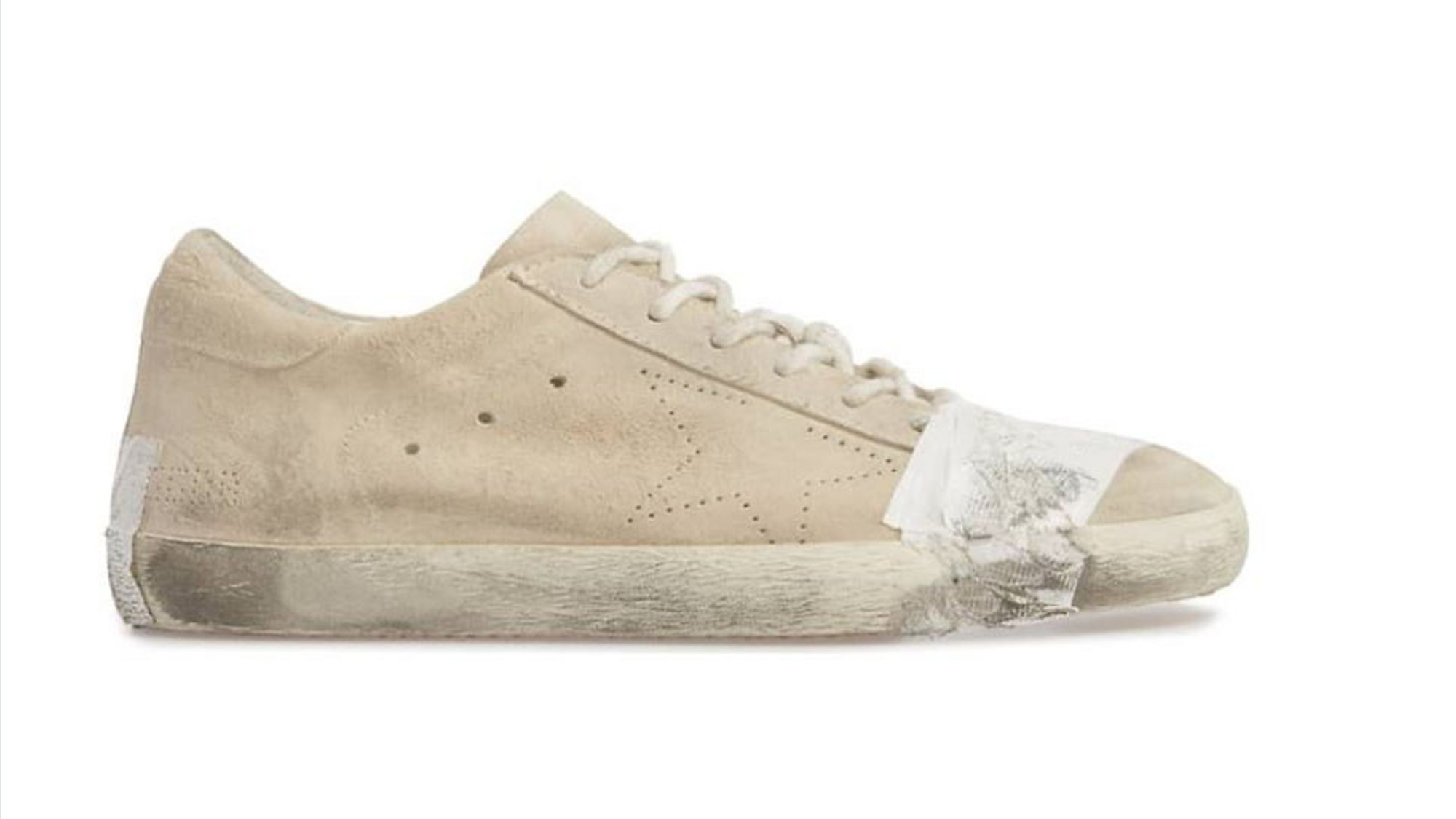 fa7729f2d6b Golden Goose s Superstar Taped Sneaker costs  530. (Nordstrom)