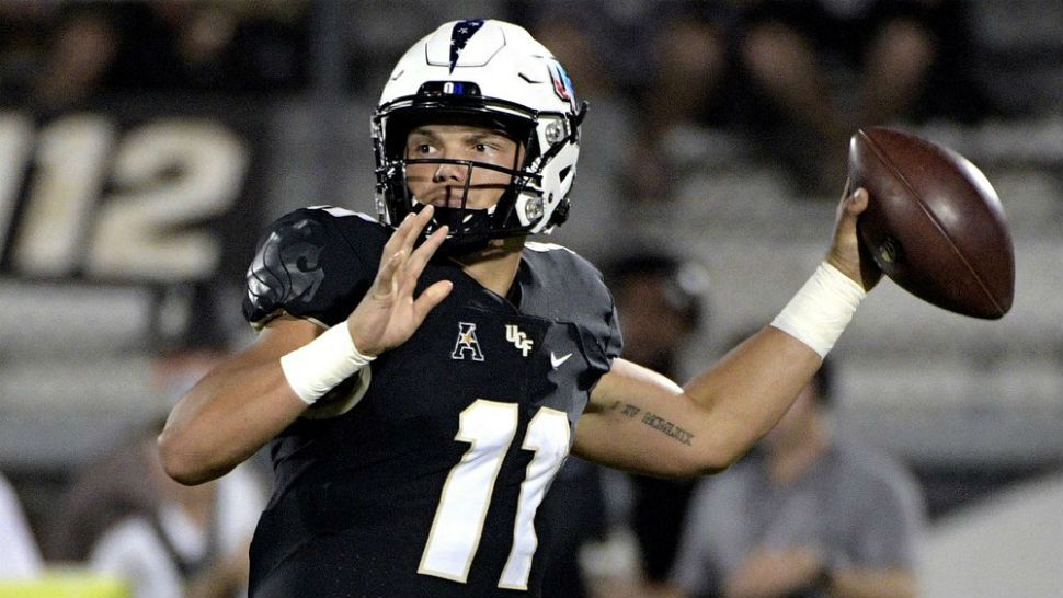Gabriel Throws 3 TDs in UCF's Bounceback Rout of UConn