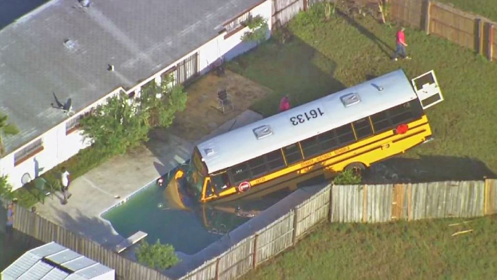 The students and driver on the school bus were not injured in the crash. (Sky 13)