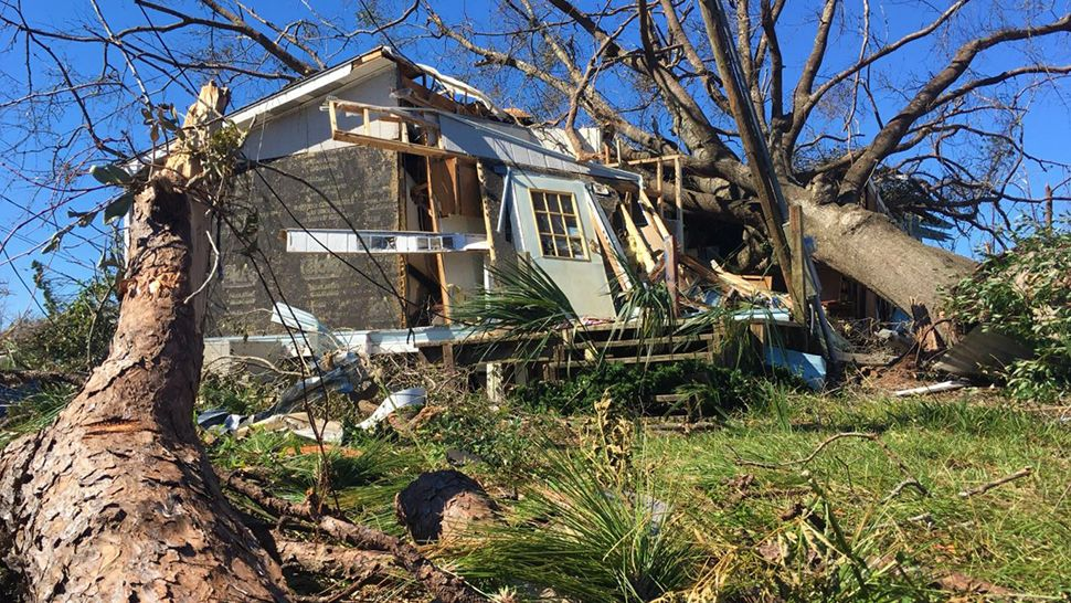 Many homes throughout the Panhandle were destroyed by Hurricane Michael. (Jon Shaban/Spectrum News)