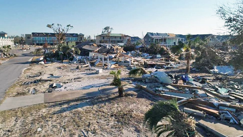 Wide-spread destruction like this is common in Mexico Beach after Hurricane Michael. (Tony Rojek/Spectrum News)