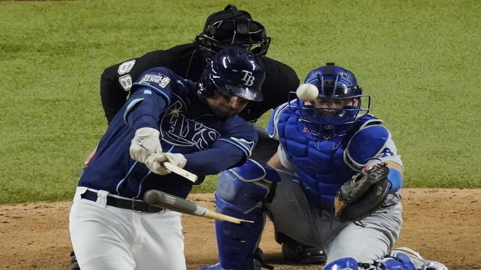 Rays Even World Series Behind Wild Walk Off Hit From Bay Area Native Brett Phillips