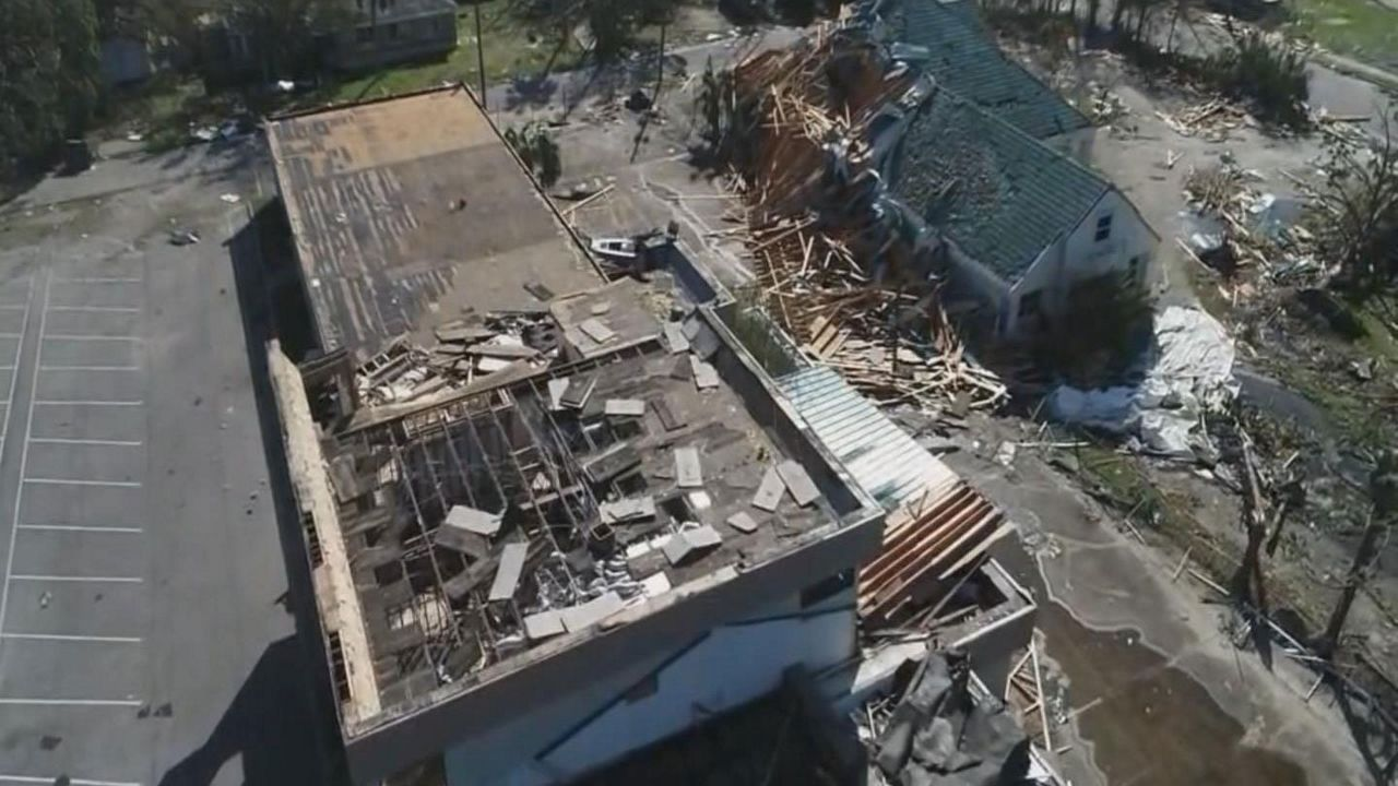 Hurricane Damage in Panama City.