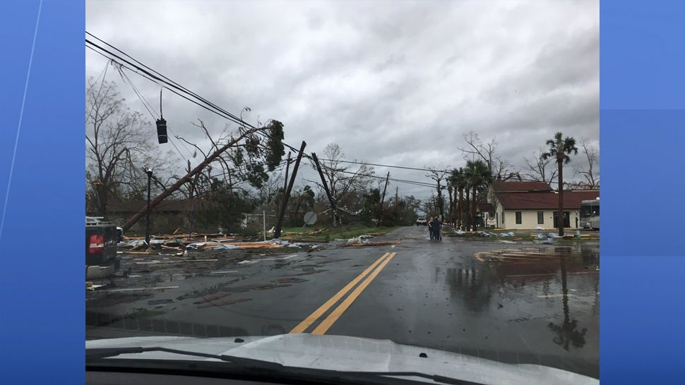 Hurricane damage in Panama City