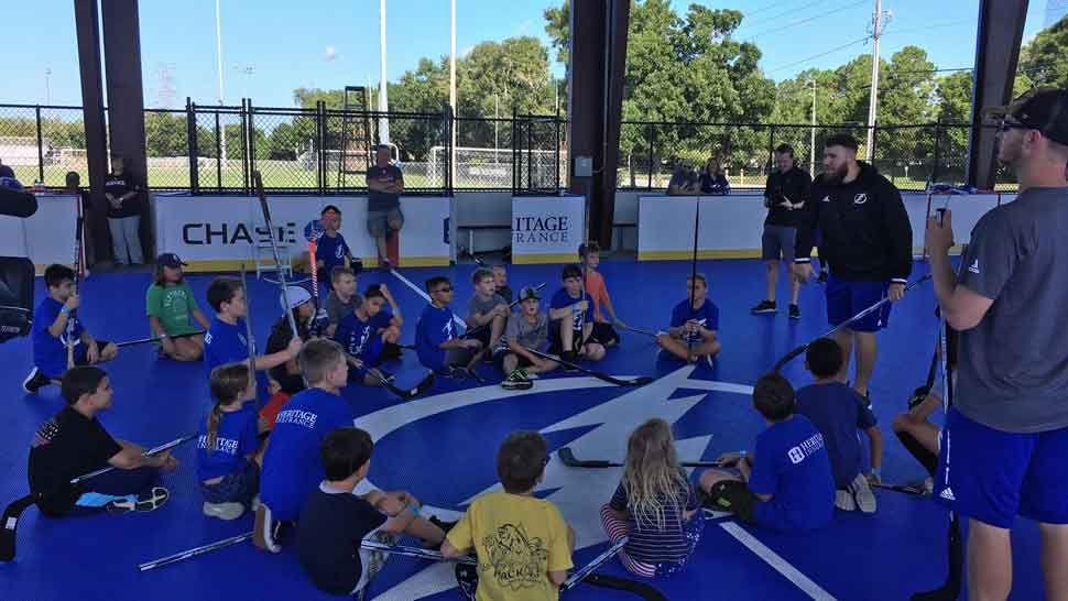 Tampa Bay Lightning Open Street Hockey Rink in Oldsmar