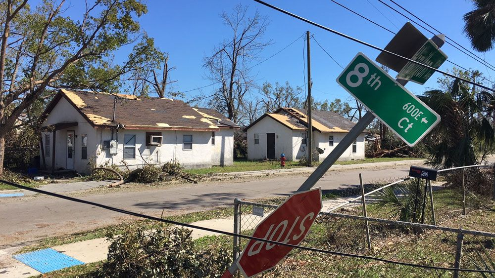 Homes damaged in Central Panama City. (Tony Rojek, Spectrum News)