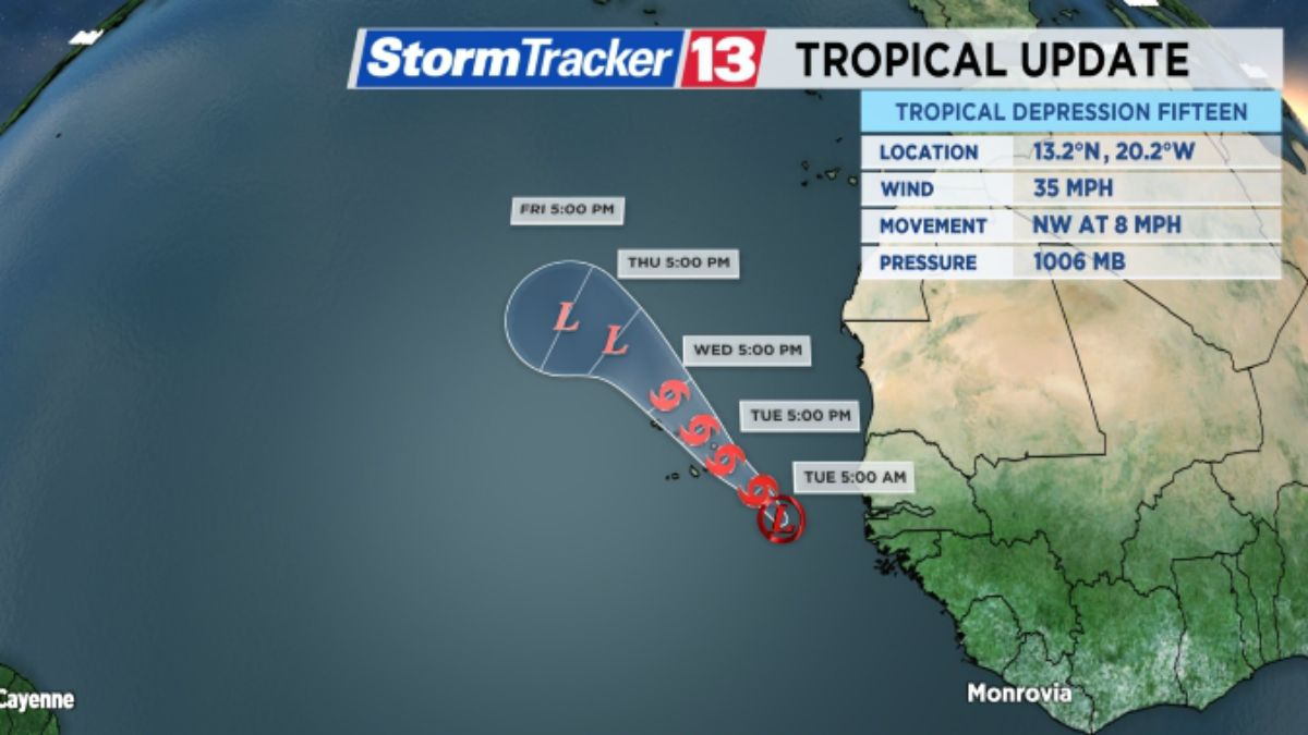TROPICS: Tropical Depression 15 Forms Off Coast of Africa