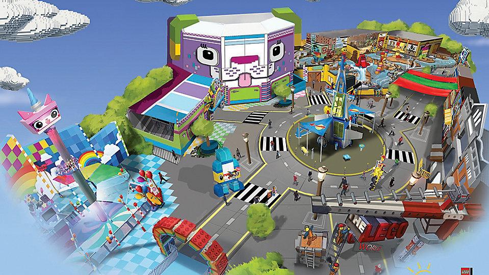 Concept art for The Lego Movie World set to debut next spring at Legoland Florida. (Legoland Florida)