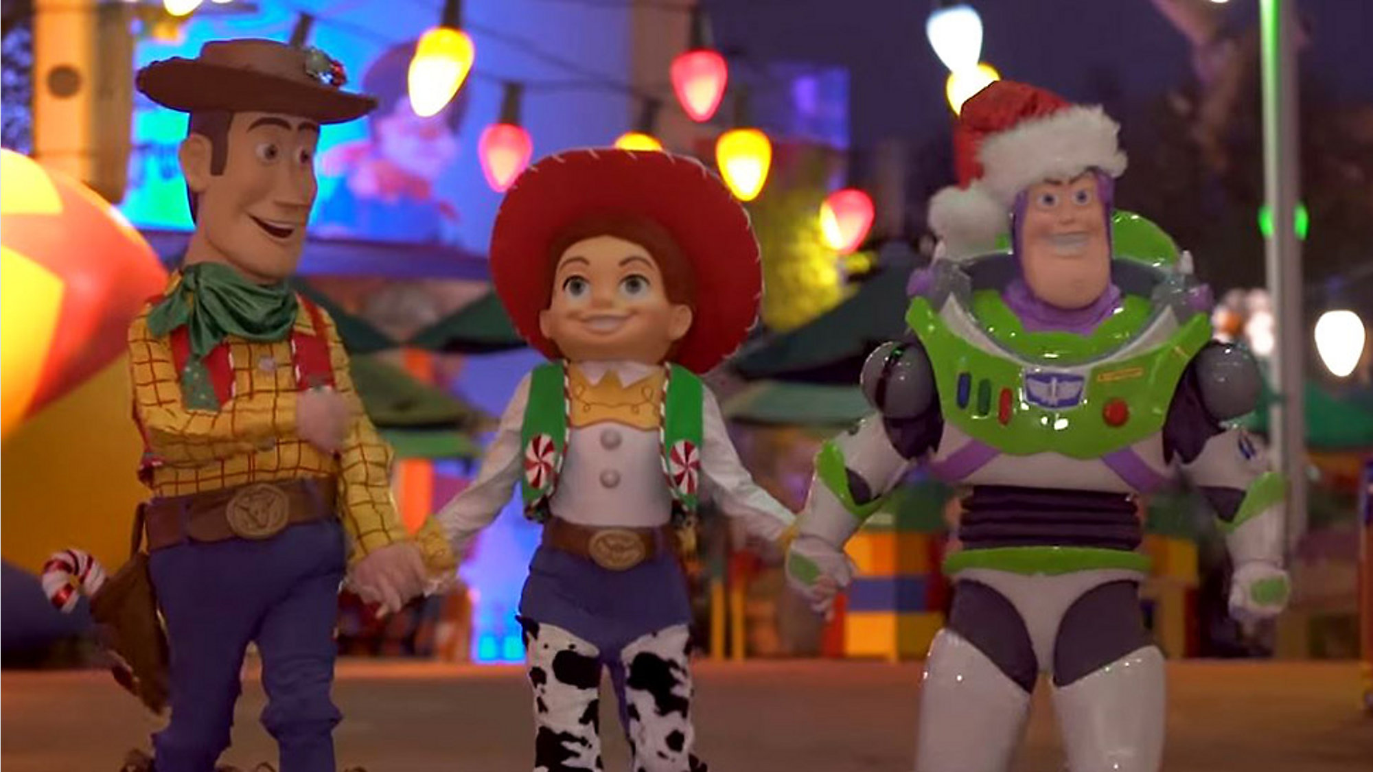 disney shares first look at toy story lands holiday overlay - Toy Story Christmas Special