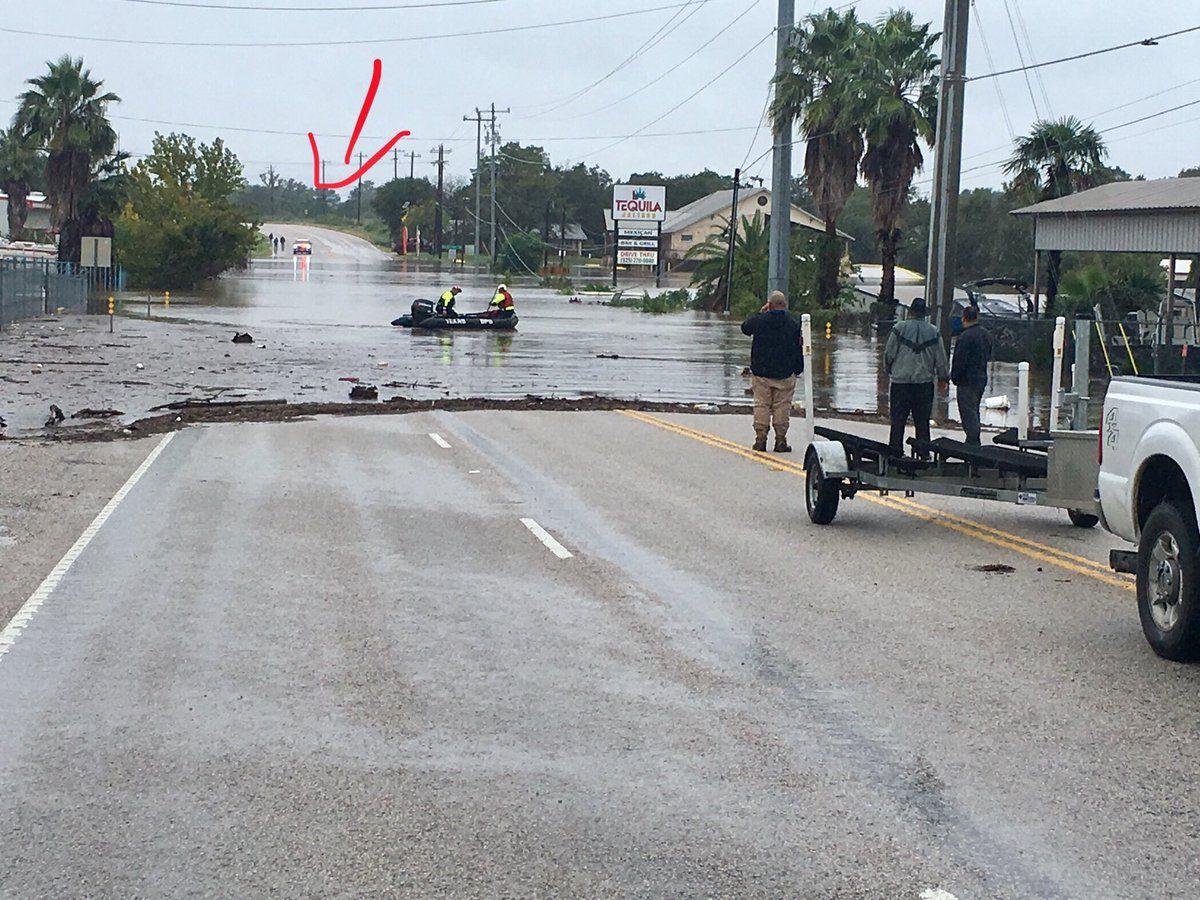 Burnet County Sheriff's deputies said a patrol unit is stranded due to flooding on Farm to Market 1431, east of Kingsland.