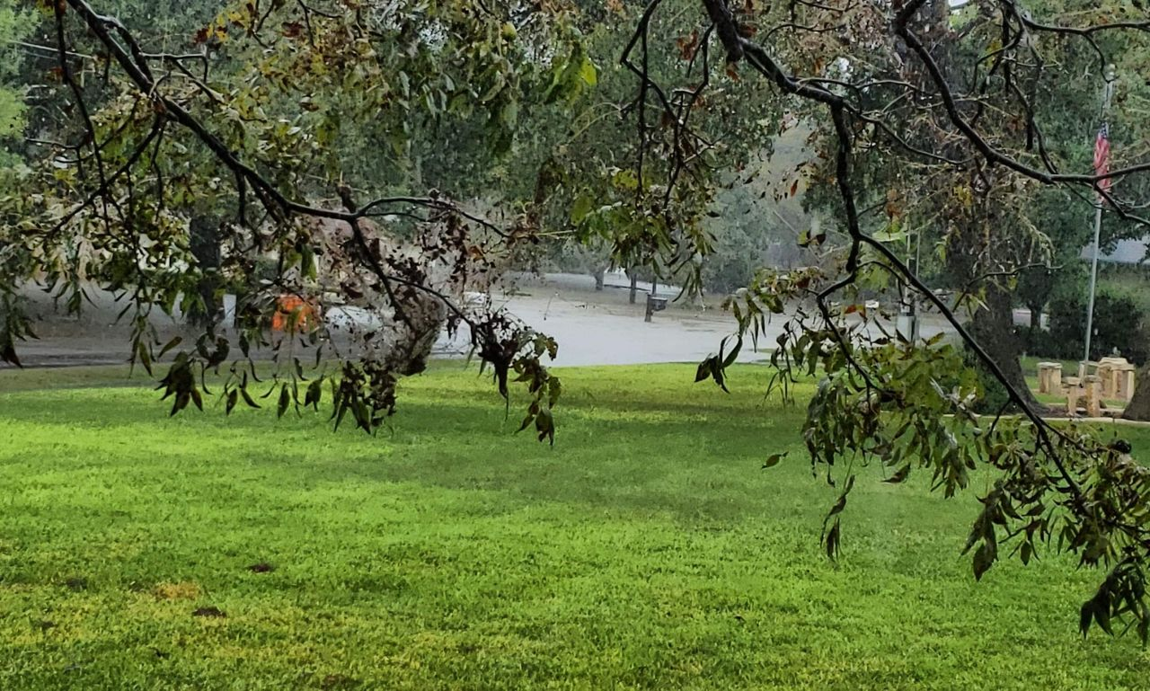 Resident of Highland Haven in Texas says his neighborhood is under a voluntary evacuations.