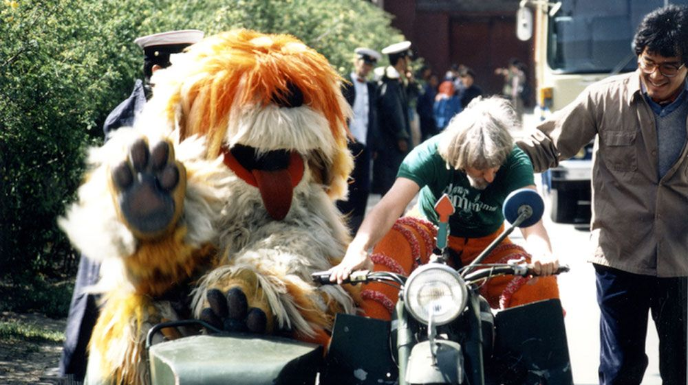 Caroll Spinney and Big Bird's puppy friend Barkley. (Copper Pot Films)