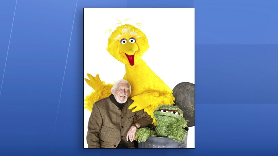 Caroll Spinney with his Sesame Street characters. (Sesame Street)