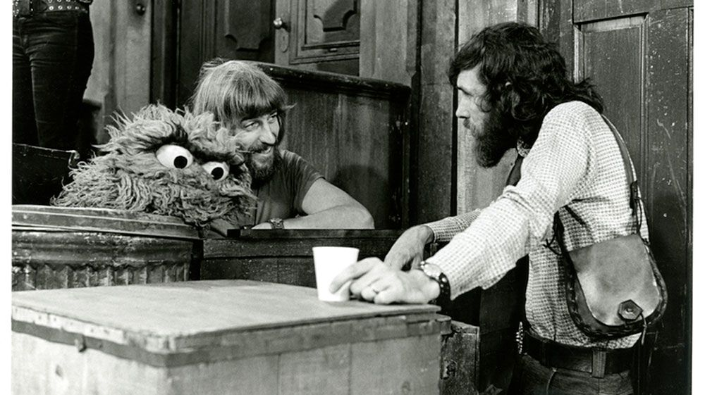 Caroll Spinney as Oscar and Jim Henson. (Sesame Street)
