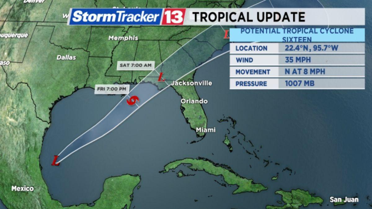 TROPICS: PTC 16 Could Make Florida Landfall This Weekend