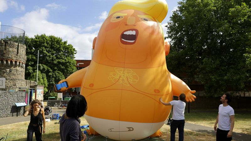 'Baby Trump' Blimp May be at President's Fayetteville Rally
