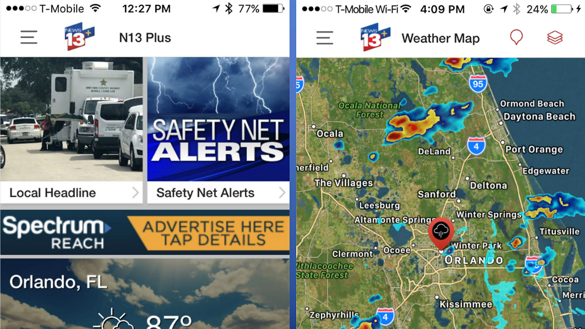 Get the Spectrum News 13 mobile app with new upgrades