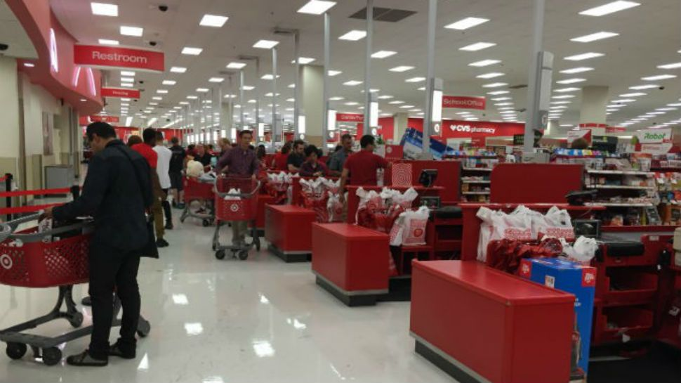 Local Target store draws protest over bathroom policy  |Target Store Restroom