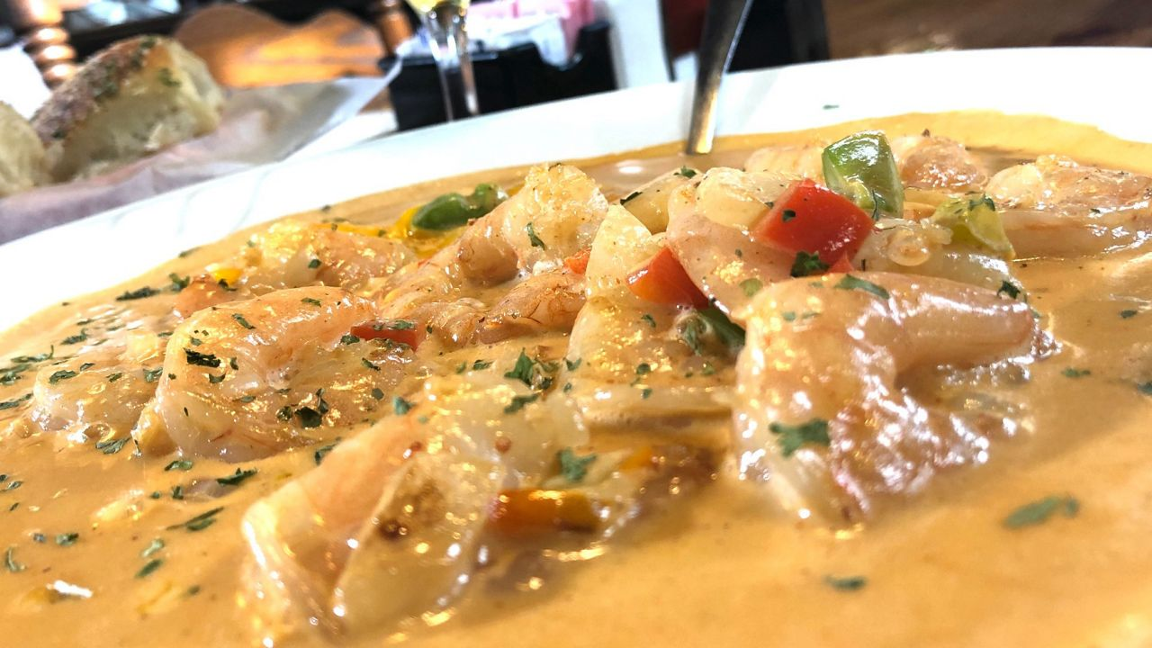 Chef's Kitchen: Scaring Up Ashley's Chicken Walnut Salad, Creole Shrimp and Grits