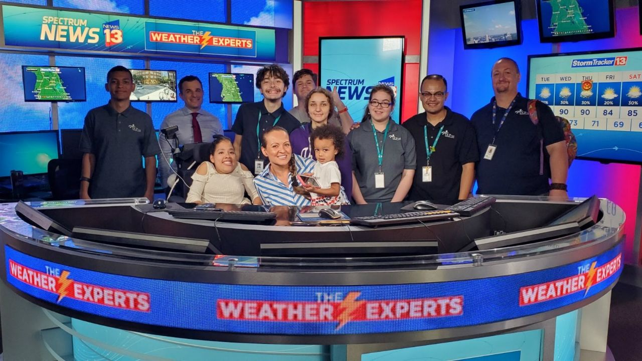 Participants from the UCP of Central Florida/TLA visit the Spectrum News 13 studios and meet our anchors, meteorologists, and crew.