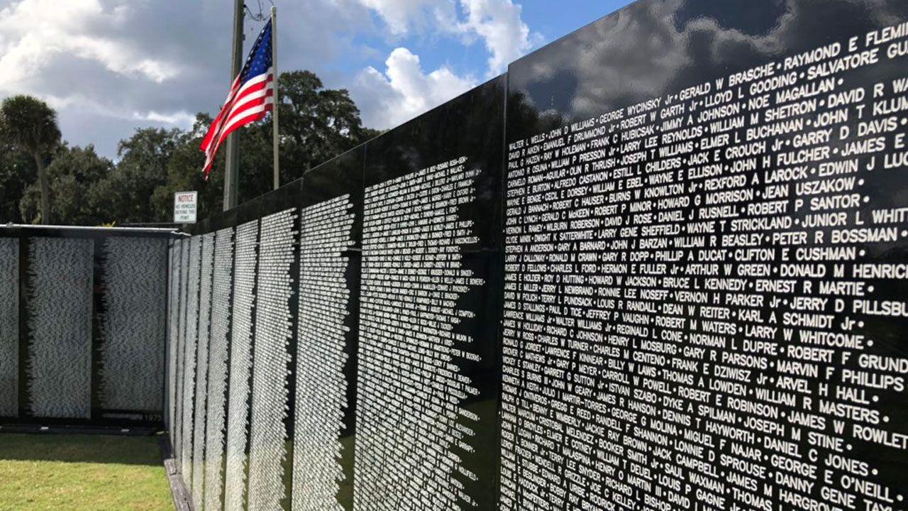 Vietnam War U0026 39 S Fallen Honored With Wall Replica In Sanford