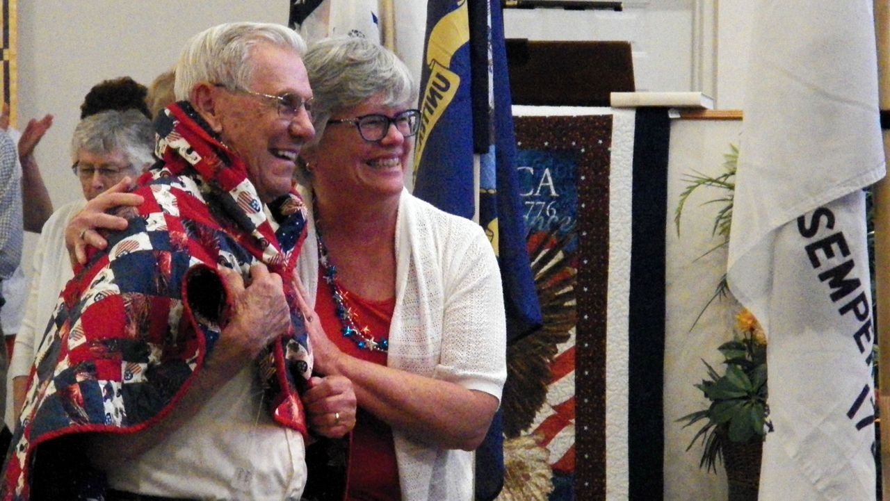 """Veterans from World War II, Korea, and Vietnam were honored Wednesday night at the Great Outdoors Community Church in the """"They Gave Us Liberty"""" program."""