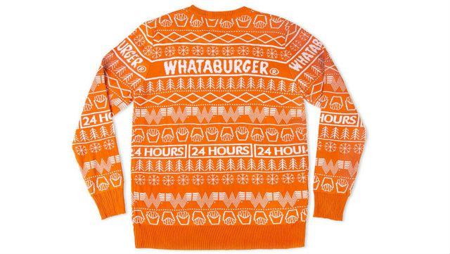 Whataburger Unveils Christmas Sweater
