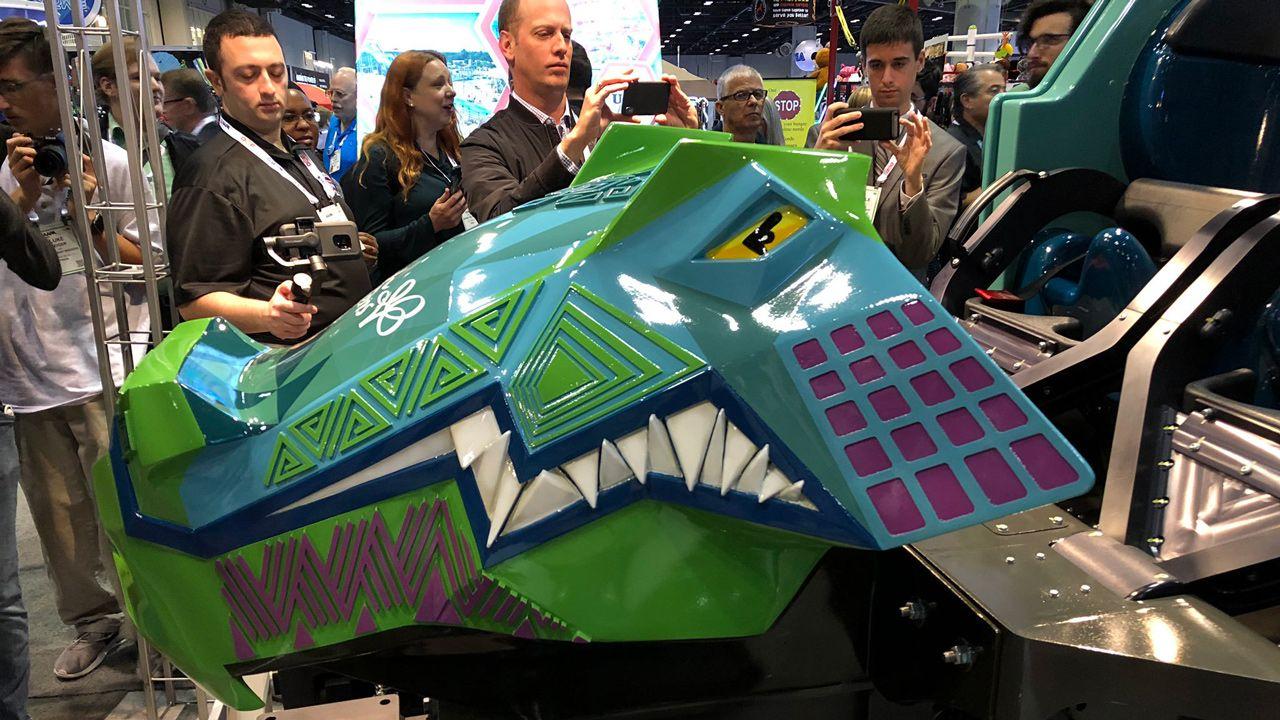 Busch Gardens Unveils Ride Vehicle For Iron Gwazi Coaster