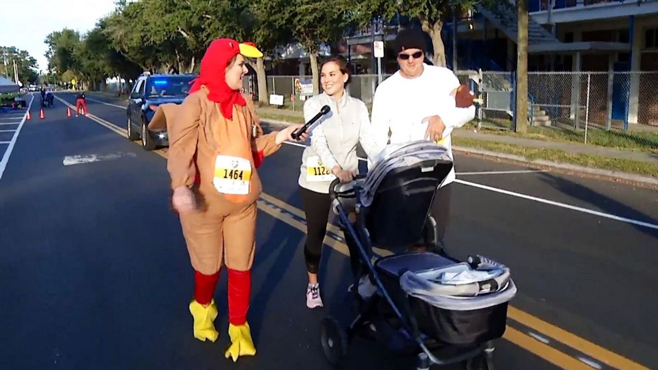 The Thanksgiving morning tradition, Coffee Pot Turkey Trot in St. Petersburg, benefits North Shore Elementary School.
