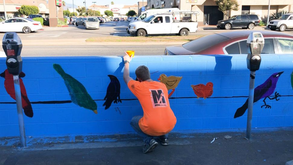 The nonprofit Muralism provides a safe place for artists with special needs to connect with other people while beautifying the community.