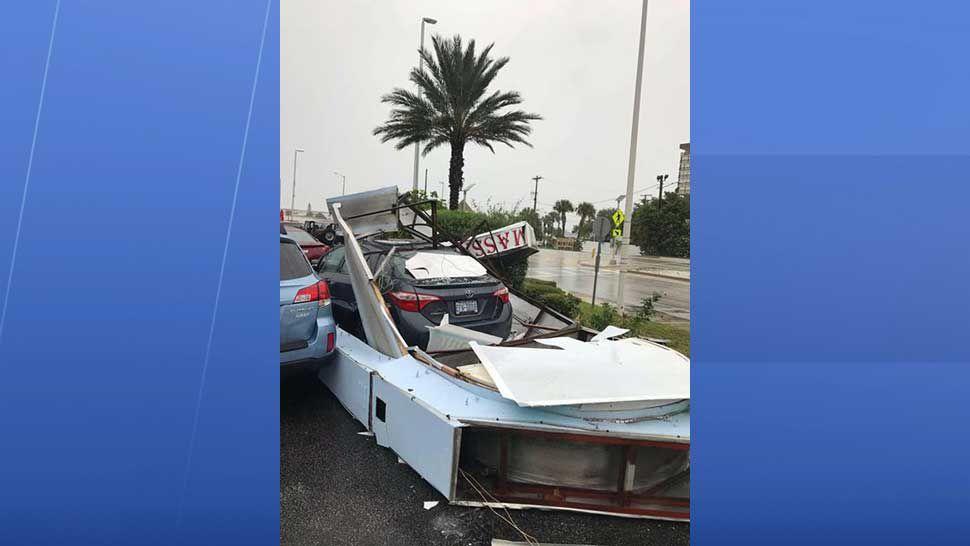 Storm damage in Madeira Beach around 3 p.m. (Courtesy of Chris, viewer)