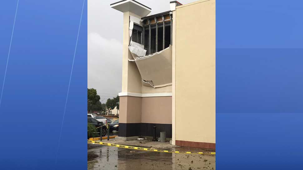 Storm damage to a Winn-Dixie location on North Dale Mabry and Northdale Boulevard. (Courtesy of Hillsborough County Fire Rescue)