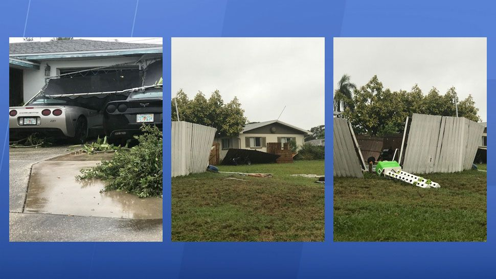 Tornado damage seen in Seminole (Courtesy of Melody Stang, viewer)