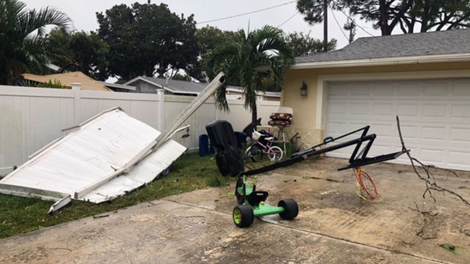 Tornado damage off 64th Terrace in Seminole (Courtesy of Candice, viewer)