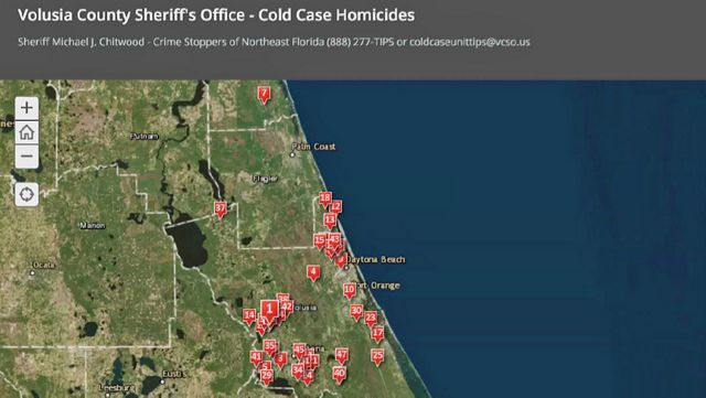 Interactive Map Of Florida.New Interactive Map To Help Solve Volusia County Cold Cases