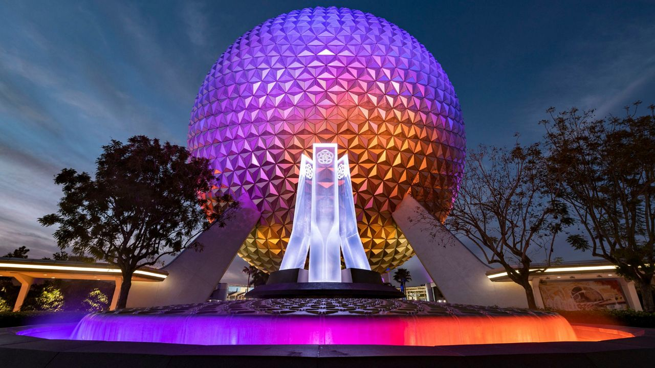 Disney Unveils New Epcot Entrance Fountain