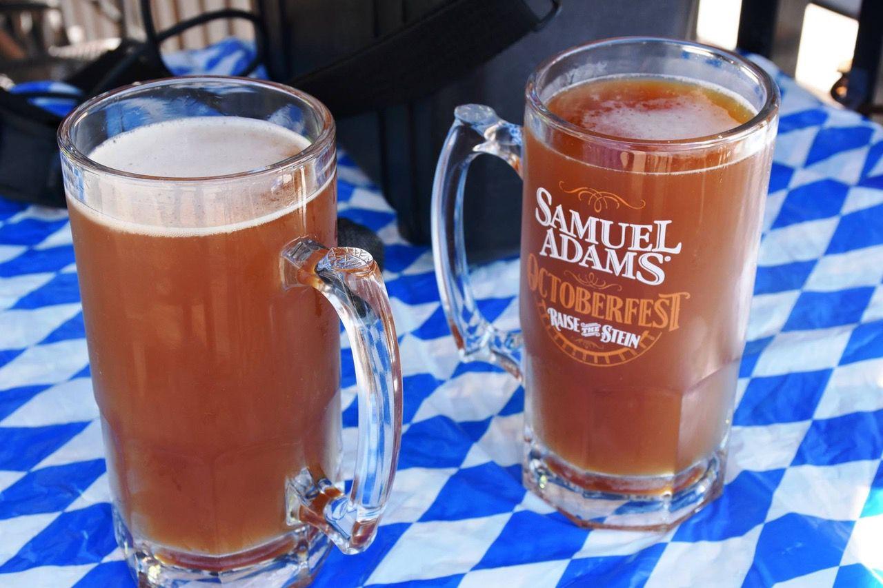 Glasses full of Oktoberfest beer during Oktoberfest Zinzinnati (Casey Weldon   Spectrum News 1)